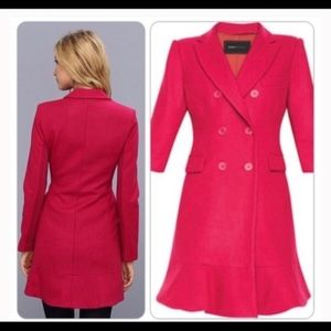 BCBGMaxaria Pink Wool Blend Coat -Size Small